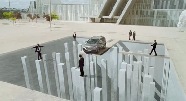 何度も見たくなる!壮大な騙し絵による映像がすごすぎるホンダのCM - Honda Illusions