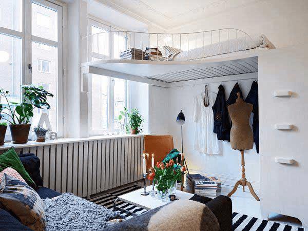 工夫がいっぱい!せまいベッドルームを広く見せるアイデア事例いろいろ - Small Bedroom