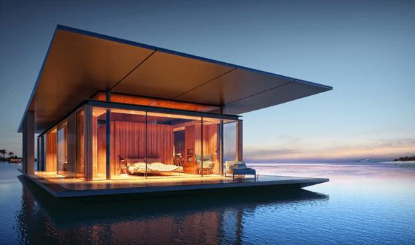 これで憧れの水上生活!海の上に暮らせるモバイルハウス - floating house