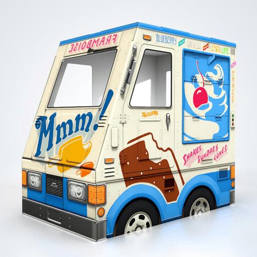 これはかわいい!段ボールで作るアイスクリーム屋さんトラック - OTO Cardboard Ice Cream Truck