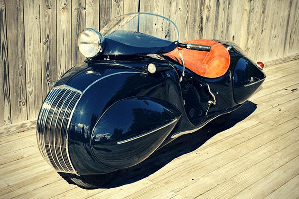 オシャレすぎる!アールデコ調に改造した曲線が美しいバイク - ART DECO 1930 KJ HENDERSON
