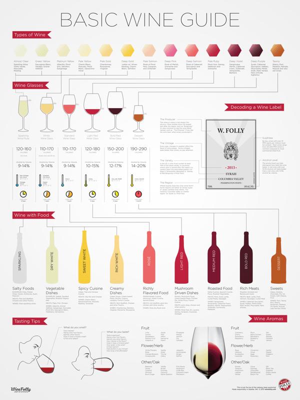 美味しいワインが飲みたくなる!ワイン好きに贈りたいインフォグラフィックスポスター - Wine For Beginners Infographic