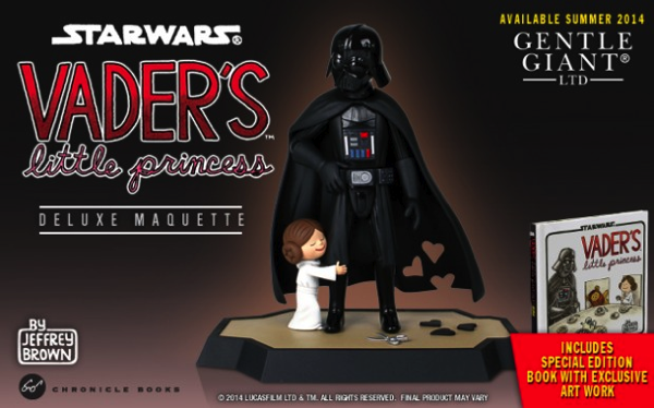 Darth Vader and Son and Little Princess Figurines