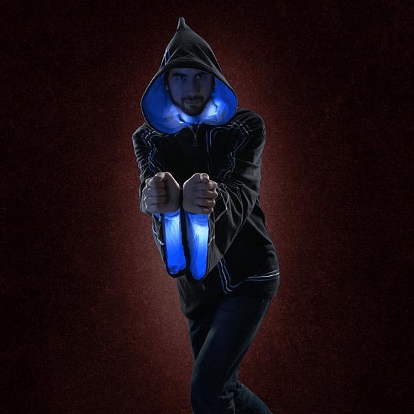 これを着れば誰でも魔法使い。音と光の魔法を放てるパーカーがすごい - Technomancer Digital Wizard Hoodie