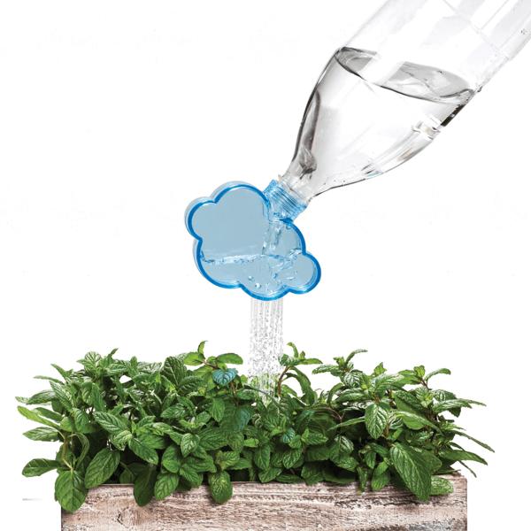 ペットボトルがカワイイじょうろに!雨を降らしているような雨雲になるキャップ - Rainmaker