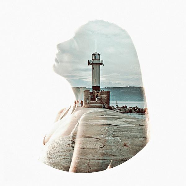 プロフィール写真として作ってみたくなる。美しすぎる二重露光のポートレート - Colorful Double Exposure Portraits