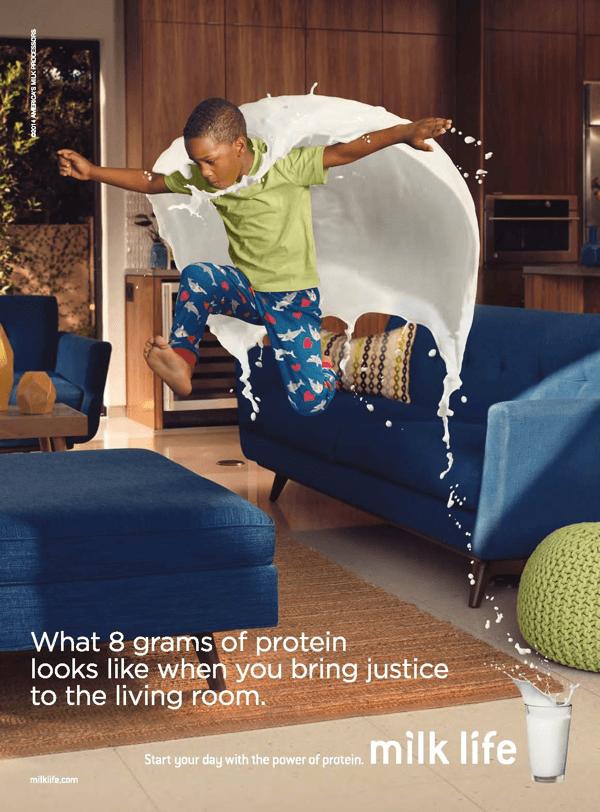 溢れ出す躍動感と活力!牛乳のもたらす効果をこれでもかと表現した広告がすごい - MilkPEP