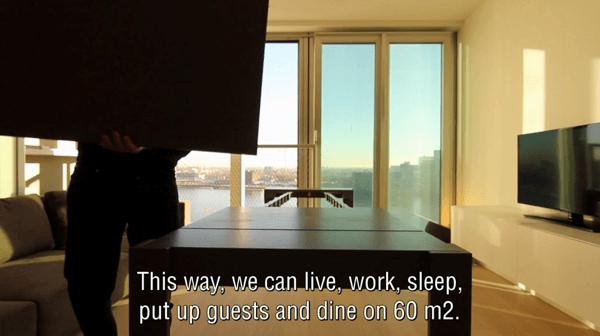 5部屋分楽しめる。変身する2部屋だけのアパートメント - five-room apartment