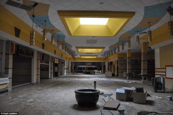 Abandoned shopping centers