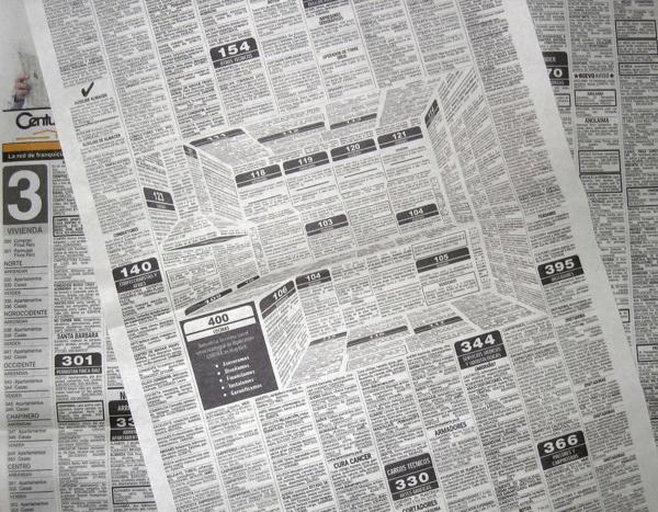 巧妙すぎる! 新聞の中に隠された見事な立体広告 - HiperCentro Corona Ad