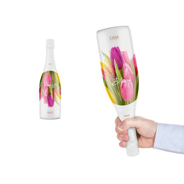プレゼントしたくなる! まるで花束のような一石二鳥のパッケージのワインボトル  - Blossom Cava
