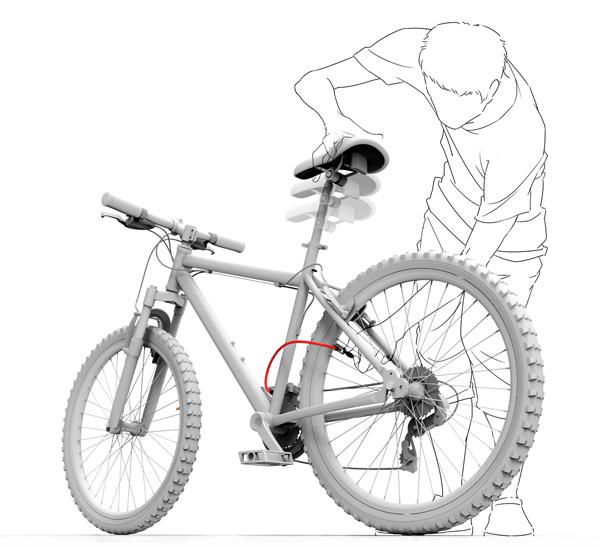 この発想はなかった! サドルが空気入れになっている自転車 - Inflator Bicycle