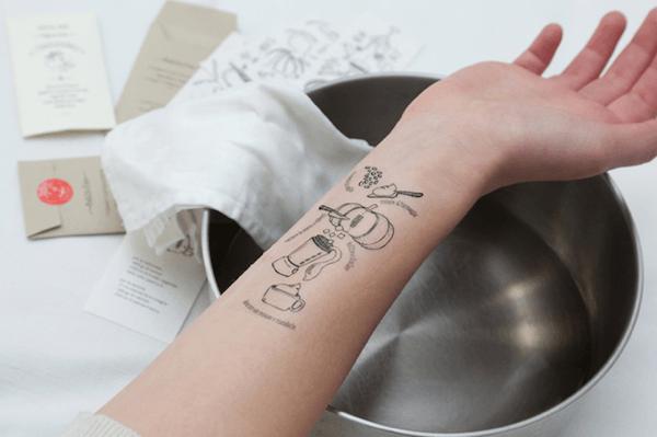 まさかこんな手が! レシピを腕にプリントするタトゥーレシピ - Tattoo Recipes