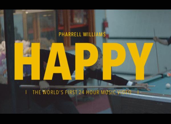 世界が幸せになってほしい!24時間流れ続けるミュージックビデオが本当にハッピー - Happy : Pharrell Williams