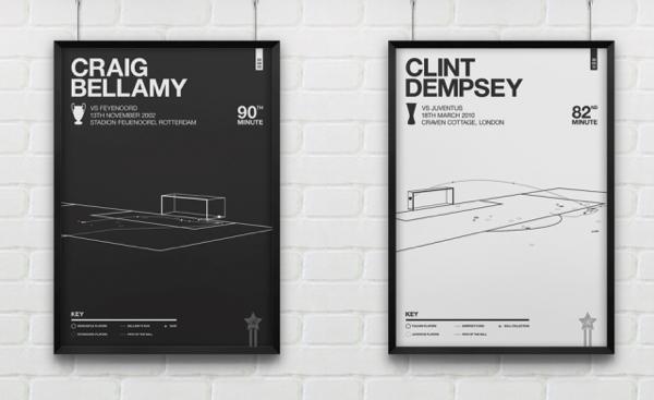 わかる人には興奮蘇る。サッカーの歴史的瞬間をグラフィックにしたポスター - English Football Posters