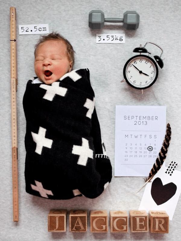 これはわかりやすい! キュートすぎる出産報告のアイデア写真 - Birth Announcement