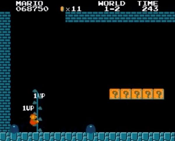 30年経って新たに発見されたスーパーマリオの無限1UPがすごい - New Infinite 1-Up