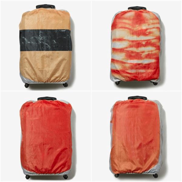 空港のベルトコンベアが回転寿司に!スーツケースが寿司になるカバー - SUSHI BAG COVER