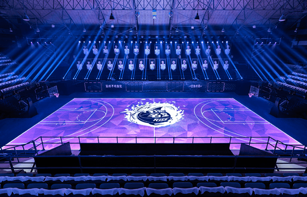 LED basketball court