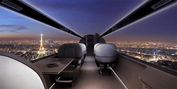 怖くて乗れないかも(笑) 窓が無い未来のジェット機 - Windowless Jet