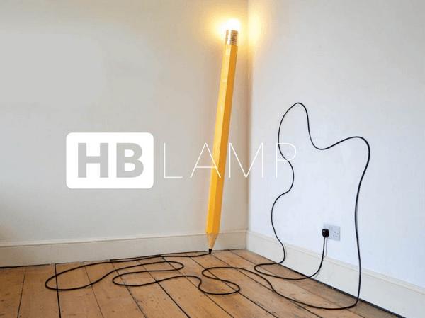 アイデアひらめきそう!巨大な鉛筆型のルームランプ - HB LAMP