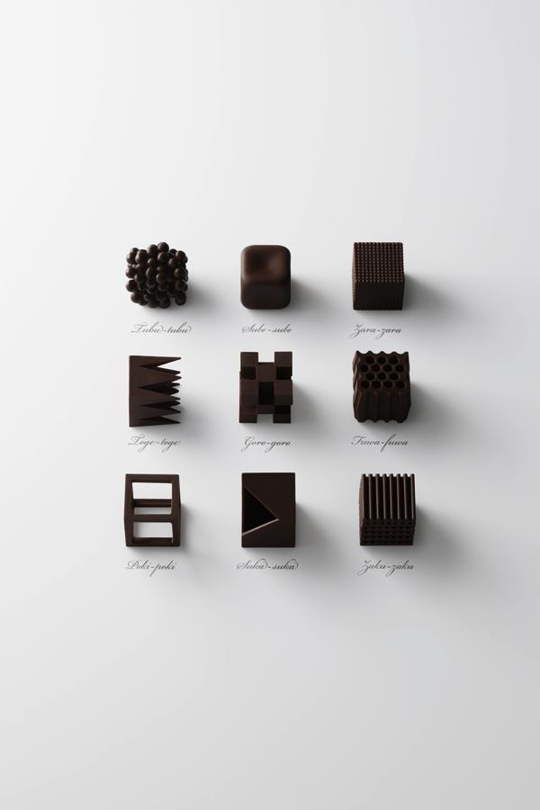 味見したい! 「味」を「カタチ」でデザインする、全く新しいチョコレート- chocolatexture