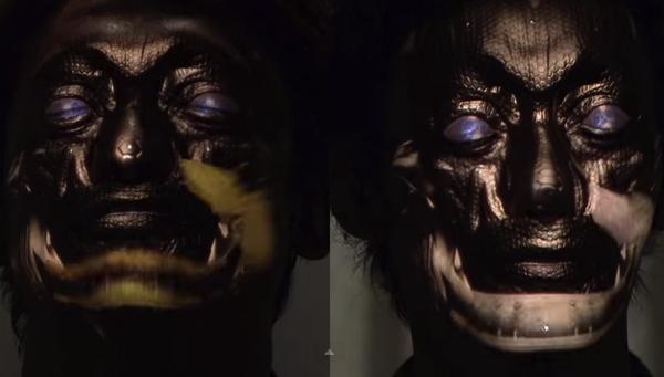 これがリアルタイムデジタルメイク!リアルすぎてちょっと怖い顔面プロジェクションマッピング