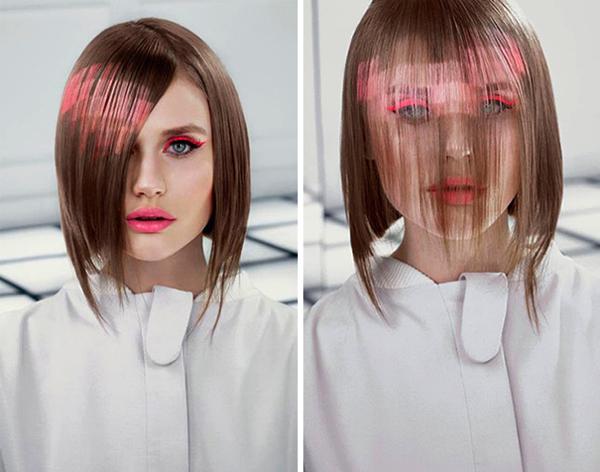 デジタルから飛び出た少女? ドット絵のようなヘアカラーが斬新で可愛い - Pixelated Hair