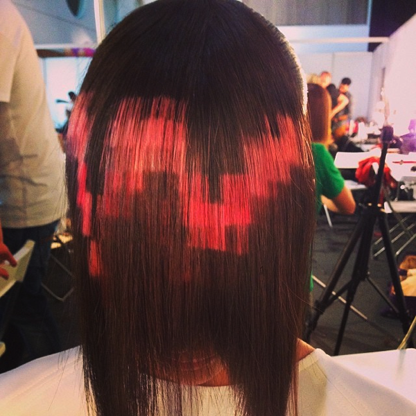 Pixelated Hair