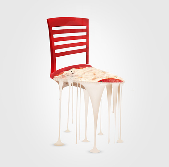 The Perfect Italian Meal,a As Chairs