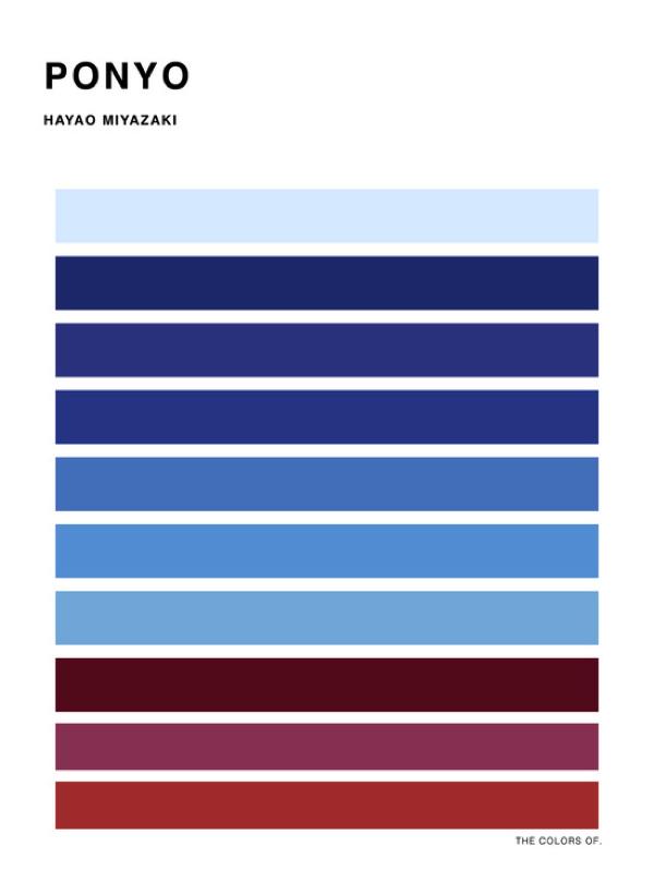 カラーパターンで観るジブリ映画のオシャレなポスター