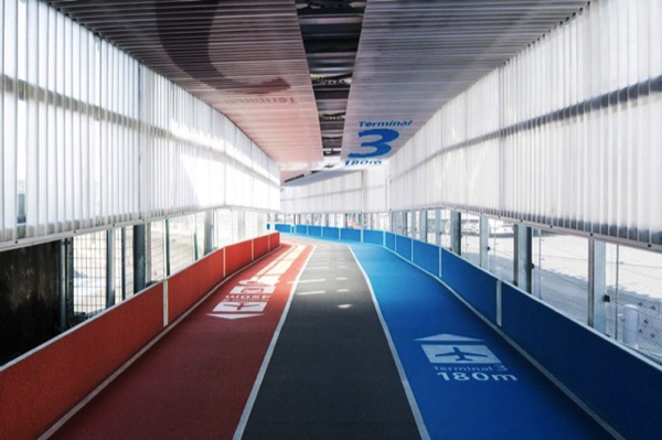 running tracks in airport