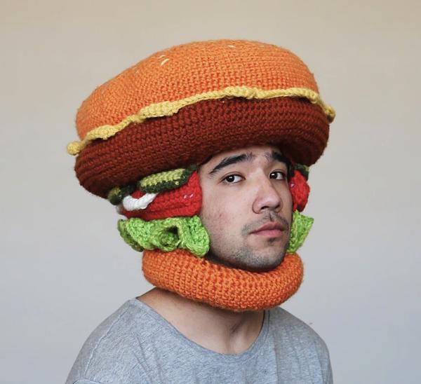 なにこれジワるww 食べ物になりきたい人のためのニット帽
