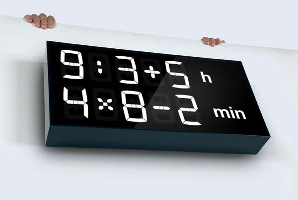 いつでも強制脳トレ! 計算しないと時間がわからない時計