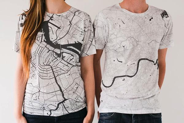 地図好きには堪らない!いつでも眺め放題な全面地図のTシャツ