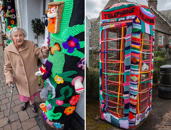104-Year-Old Grandma Yarn-Bombs