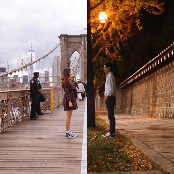 二人の世界は繋がっている。遠距離カップルの愛のある写真プロジェクト