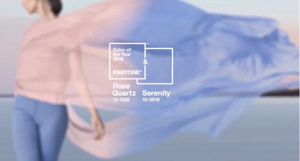 2016年のテーマカラー決定!ジェンダーレスを意識したローズ・クォーツ + セレニティ