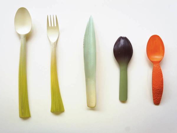 plants inspired cutlery