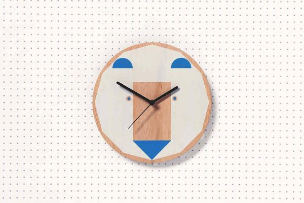シンプルでかわいい!ミニマリストも飾りたくなる動物たちの顔がデザインされた時計