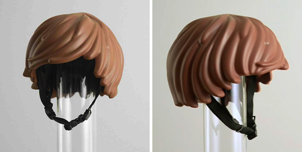 Playmobil hair helmet