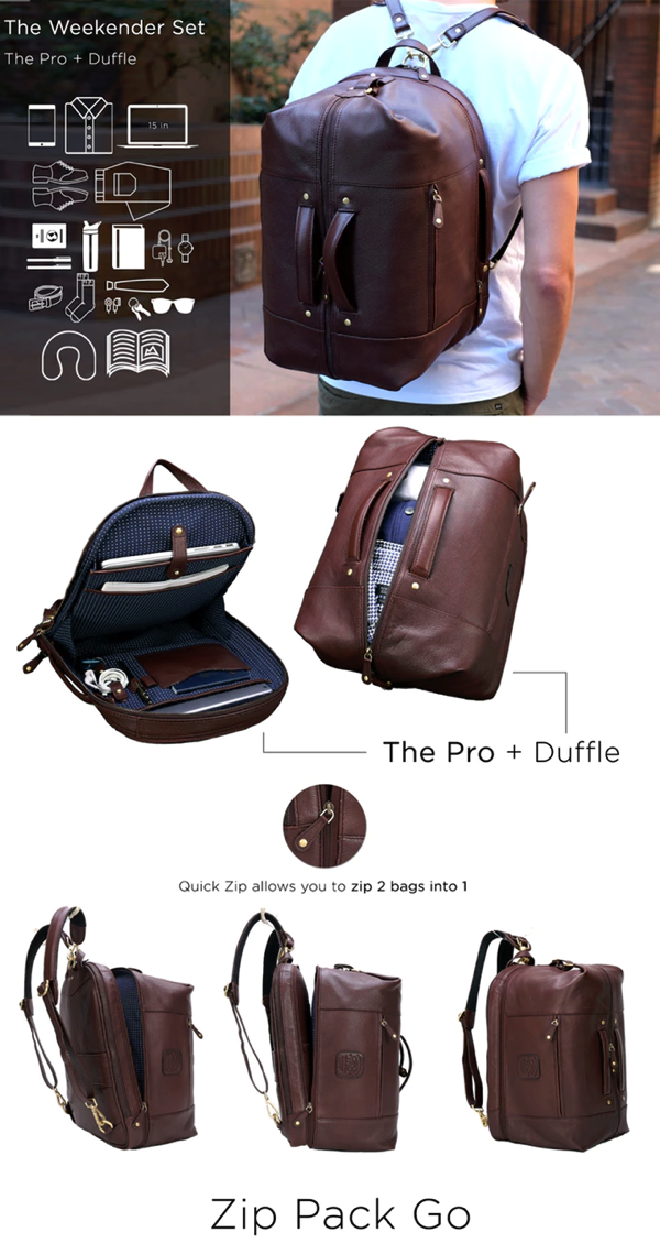 The Leather Duffle Backpack
