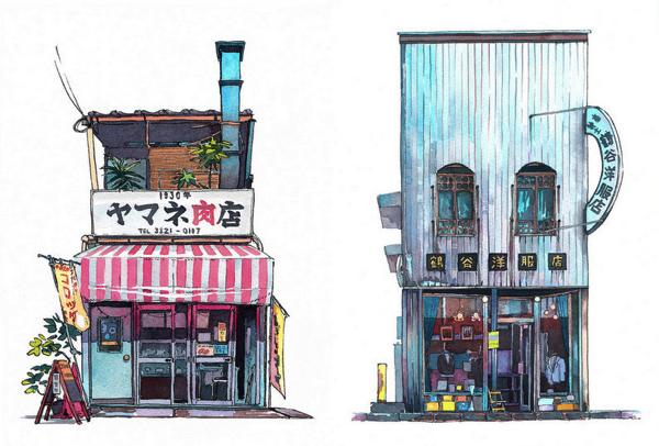 外国人クリエイターが水彩画で描く日本のノスタルジック