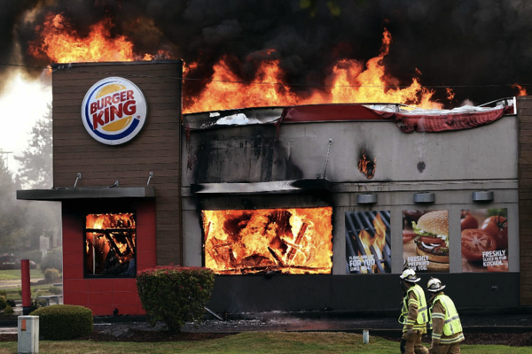 Burger King flame grilled
