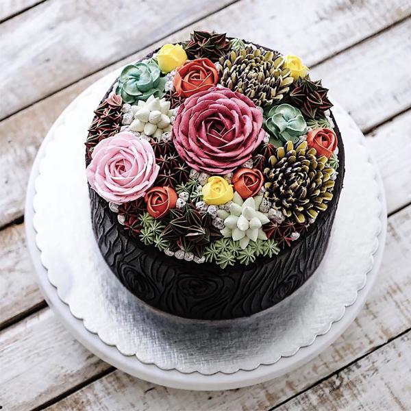 Terrarium And Flower Cakes