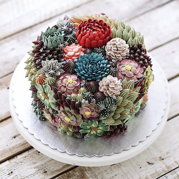 Terrarium And Flower Cakes