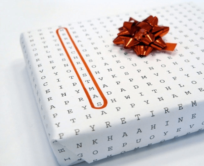 Crossword Puzzle Wrapping Paper