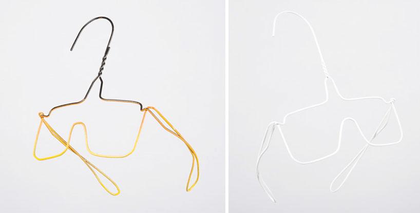 wire hanger sculptures