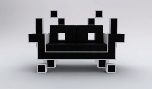 space invaders chair