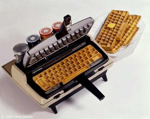 Typewriters Waffle Iron